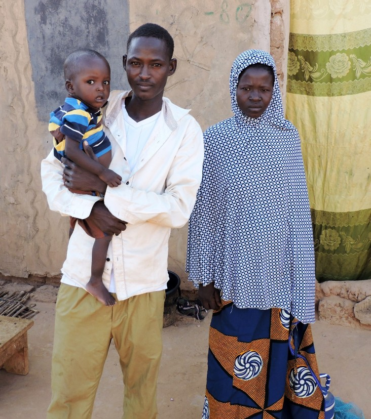 Ibrahim Alassane and his family were able to meet household needs over the lean season with the loan they received.