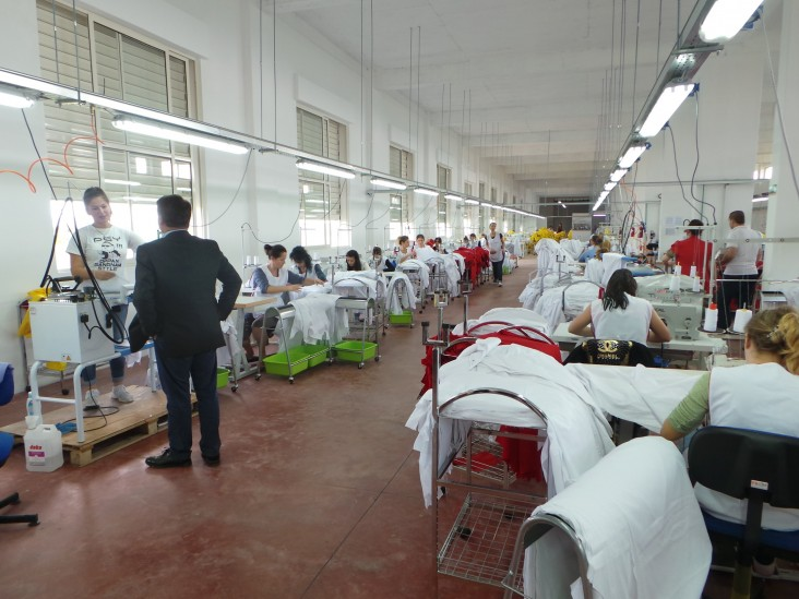 View of garment factory