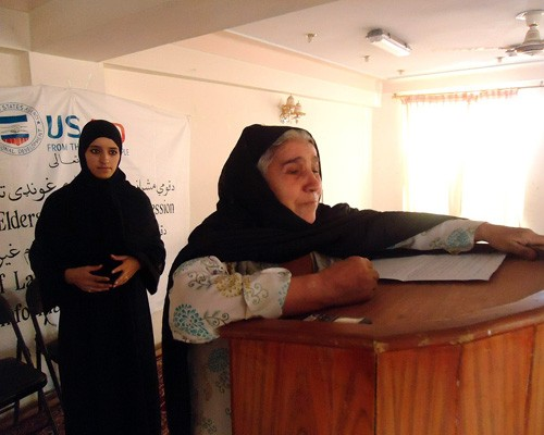 Afghan women meet to discuss their access to informal and formal justice institutions.