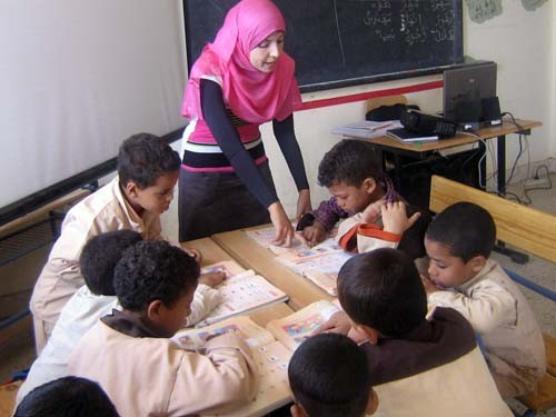 Nearly 9,000 Egyptian teachers received training from USAID to promote active learning and a respectful atmosphere in their clas