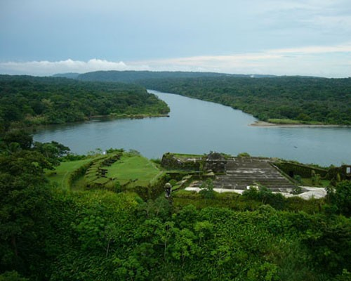 The mouth of the Chagres River feeds 40 percent of the water for canal operations and 80 percent of the water for human consumpt