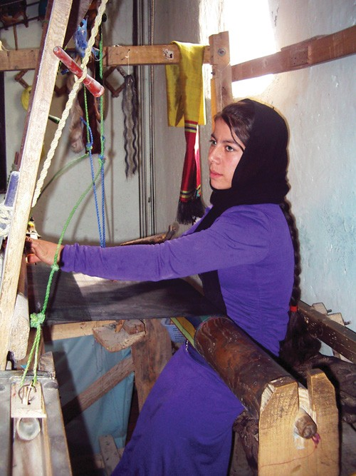 Although she has not attended school, 19-year-old Nazeera hopes to become a company designer after working with AZANA.