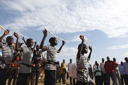Traditional dancers in South Sudan's Central Equatoria state