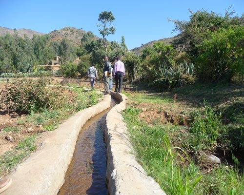 An irrigation canal at the Awda-Guanda watershed, a USAID-supported Productive Safety Net Program site, in Awlaelo district, Tig