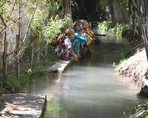 Residents in Khatlon, Tajikistan, relied on this irrigation canal as their only source of water.