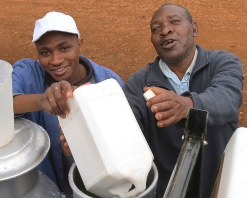 Kirere Dairy Services provide daily access to the market.