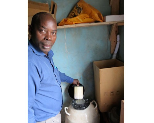 Joseph Githahu provides artificial insemination services and transportation for rural dairy farmers.