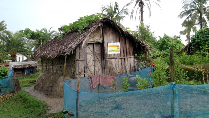 Home of Mohammad Mofizul Islam Gazi and his family, located in the village of Sutarkhali.
