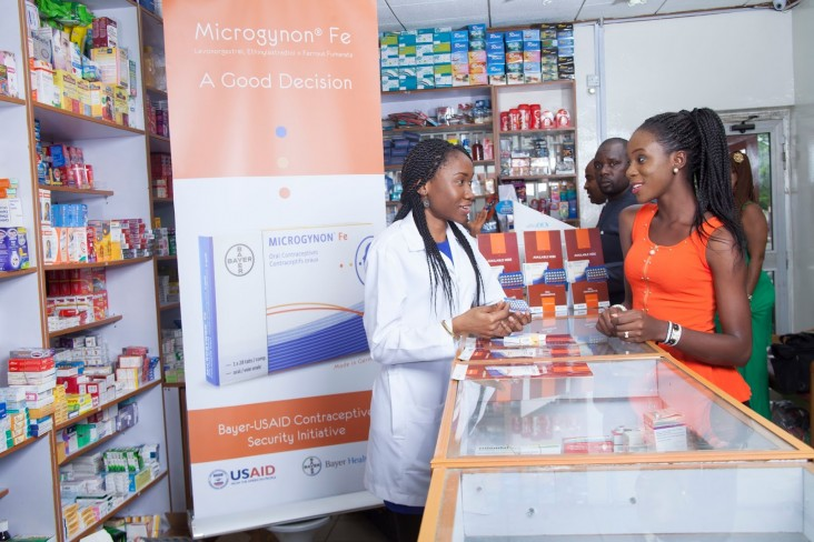 More than 8,500 pharmacists in sub-Saharan Africa were trained on voluntary family planning counseling as a result of USAID's public-private partnership with Bayer HealthCare.