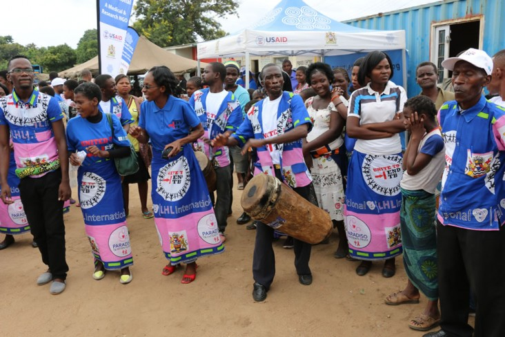 Photograph of a group of people in Malawi at the Unite to End TB event.