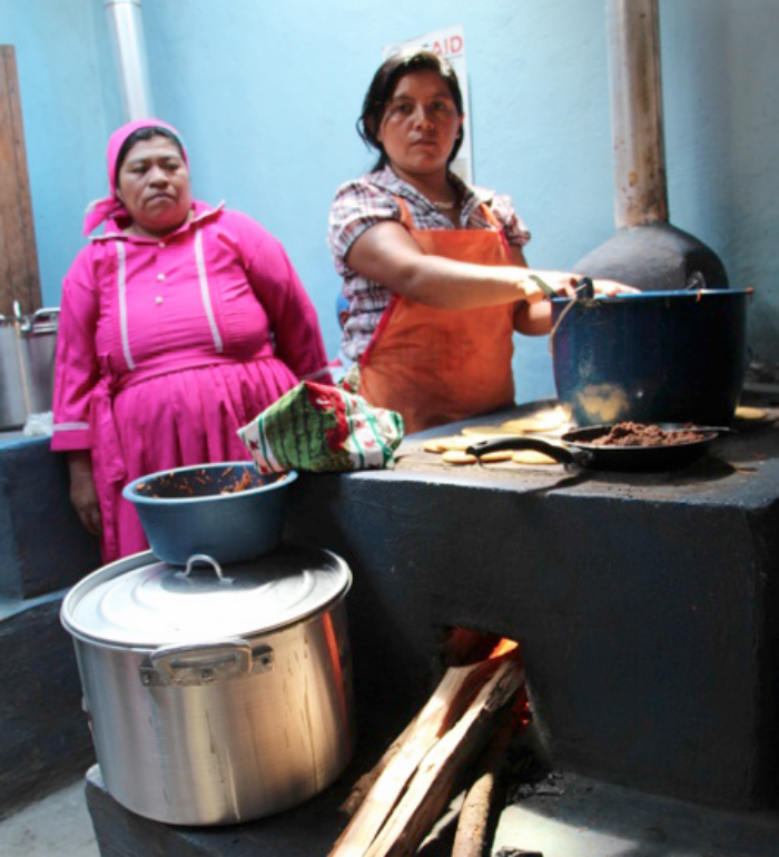 Women Using Energy-Efficient Cookstoves
