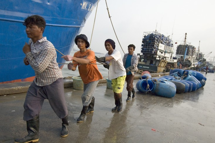 Trafficking is widespread in the fishing industry, particularly in Southeast Asia.