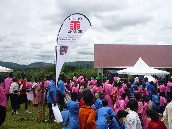 At the event, residents of Lwebitakuli, Uganda, learned about the importance of sanitation in avoiding infectious disease.