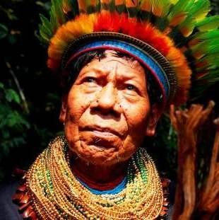 Photo of Willian Lucitante, leader of the Cofan people in northern Ecuador.