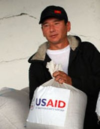 USAID's seed assistance voucher program provided high-quality seeds to over 34,000 farmers across Kyrgyzstan, including this fam