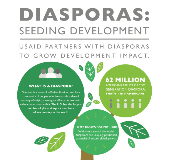 Infographic - Diasporas: Seeding Development.  Click to view full-size infographic
