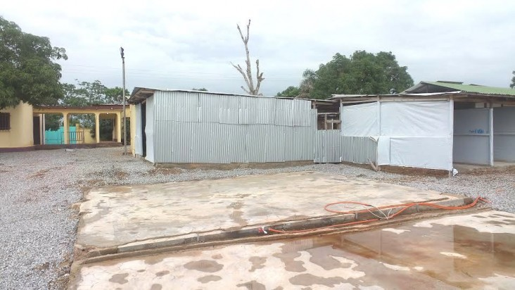 The closed USAID-supported Ebola Treatment Unit in Forécariah, Guinea.