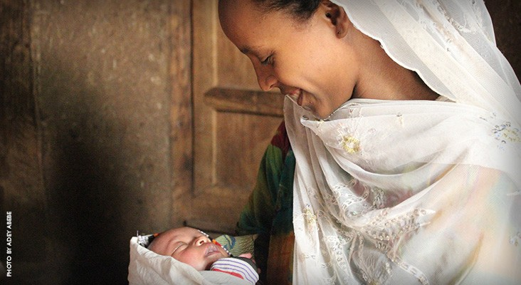 Image of Ethiopian mother and her newborn