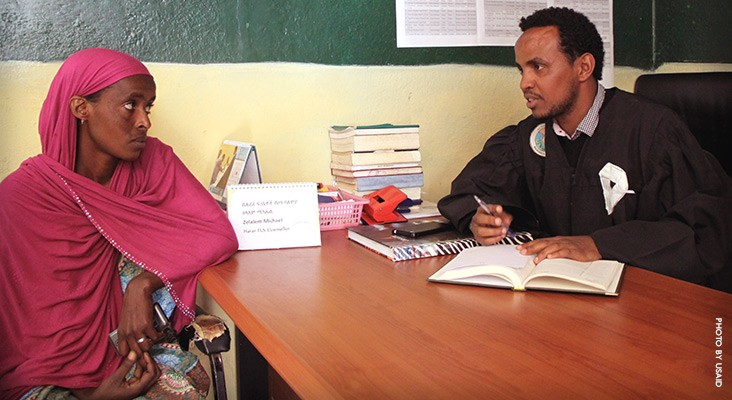 Image of Ethiopian woman seeking legal services