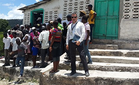Firehouse Democracy and Governance Officer supporting election monitoring in Haiti
