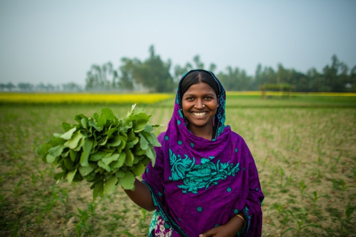 Monjuara is a Bangladeshi mother who participated in a development food assistance project.