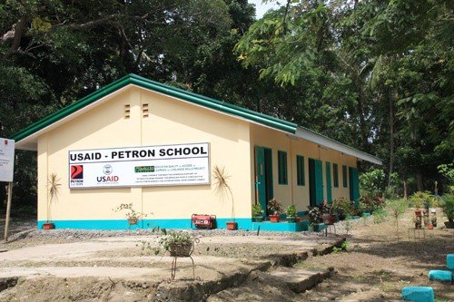 A two-classroom building, Malamawi Central Elementary School, in Isabela City, Basilan.