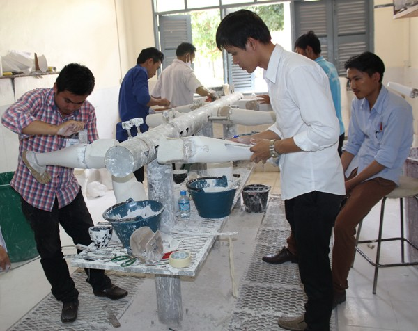 The USAID-supported project strengthens rehabilitation facilities at five centers in Laos.