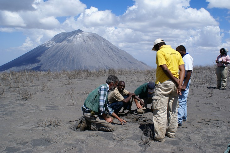 American scientists work with Tanzanian counterparts to monitor volcanic activity. Monitoring hazards is an essential element of