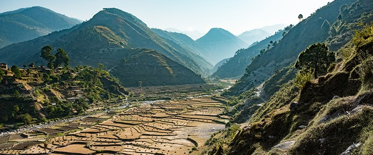 Farm areas just outside Chainpur, Bajhang District, Nepal.
