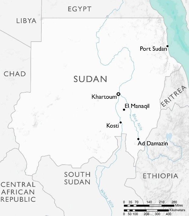 Food for Peace map of Sudan
