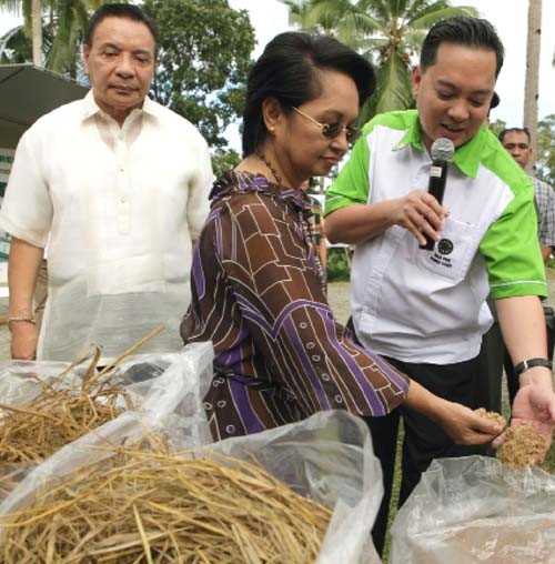 Former Philippines President Gloria Macapagal Arroyo attended the groundbreaking for the Asea One biomass power plant.