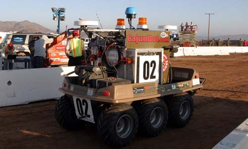 Driverless test vehicle designed by DARPA