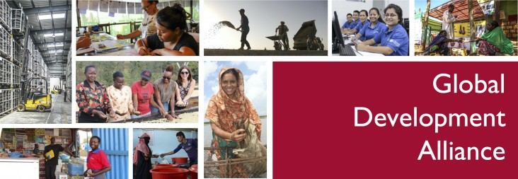 A collage of various work and people working