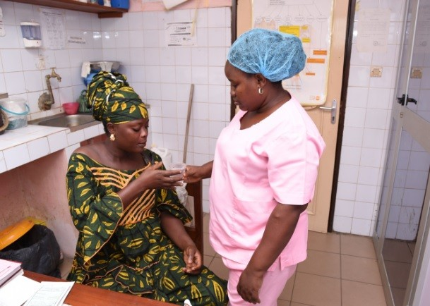 Global Health Benin Healthcare worker and PMI