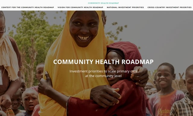 Screenshot of the Community Health Roadmap website: https://www.communityhealthroadmap.org/