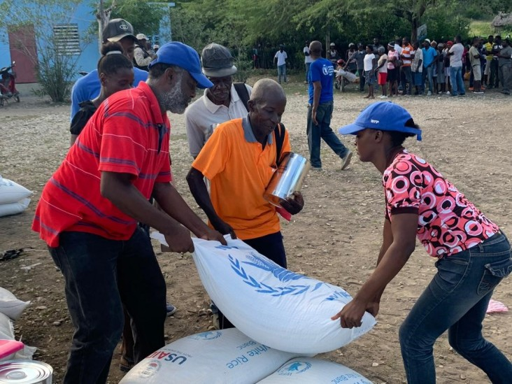 USAID and partner the UN World Food Program are providing food assistance for vulnerable populations in Haiti.