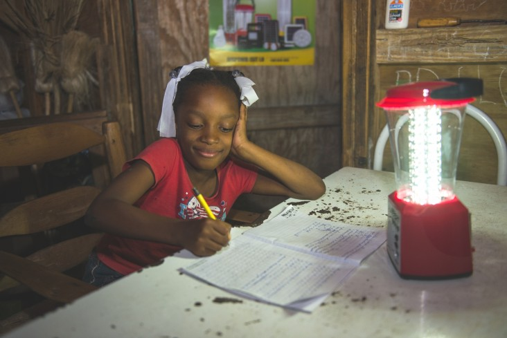 Nancy Goldman's 8-year-old daughter, Phaïma, can now study in the evening.