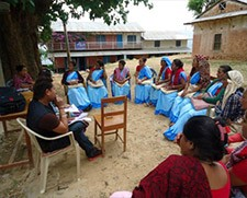 Focus group hold discussions with female community health volunteers in Khilji VDC, Arghakhanchi, Nepal.