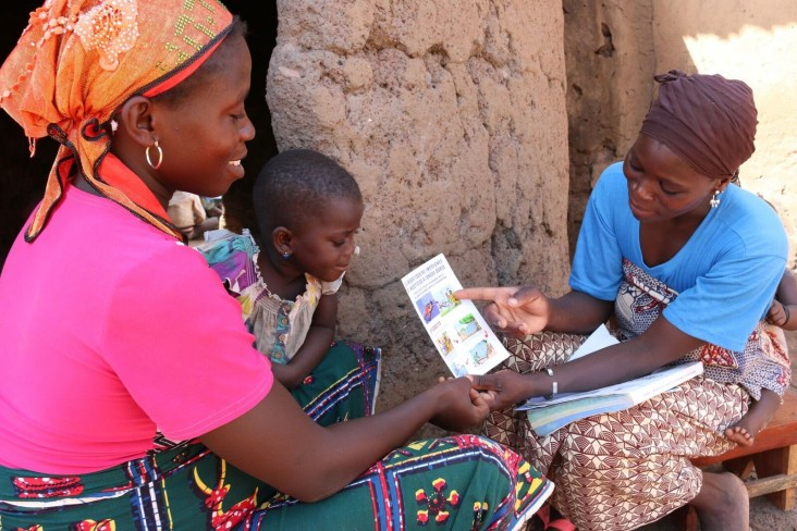 Trained Community Health Workers provide vital information to pregnant women through home visits