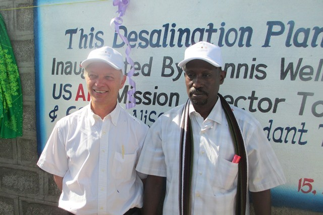 USAID Ethiopia Mission Director Dennis Weller (left) and Awel Wittika, from the Afar Regional State president's office.
