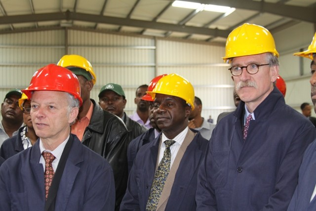 Officials tour new DuPont facility in Menegisha