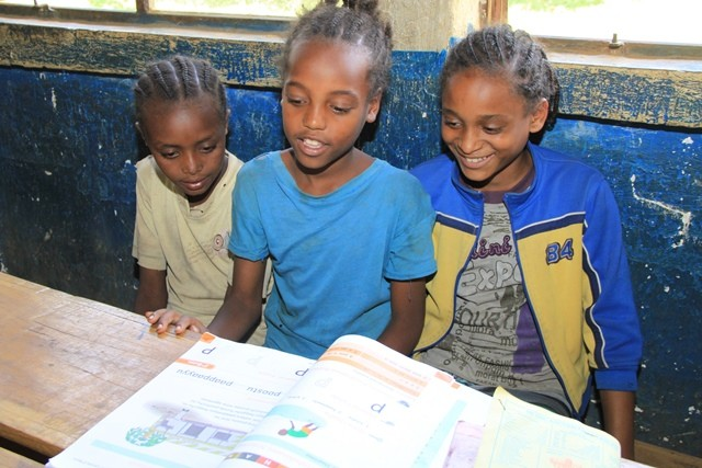 Second grade students in Sidama, a zone in the Southern Nations, Nationalities, and Peoples' Region of Ethiopia