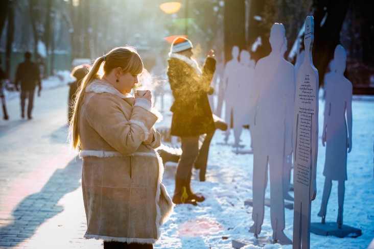 "A former victim of trafficking made art installation ""Invisible in Plain Sight' to raise awareness of modern-day slavery."