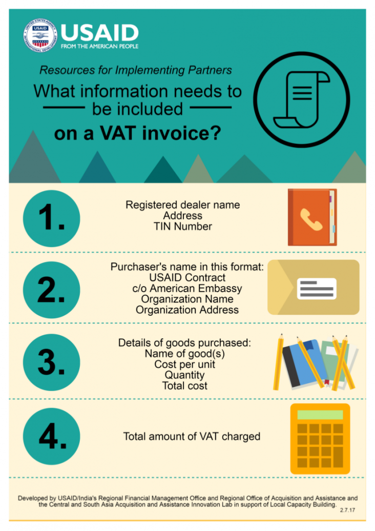 What information needs to be included on a VAT invoice?