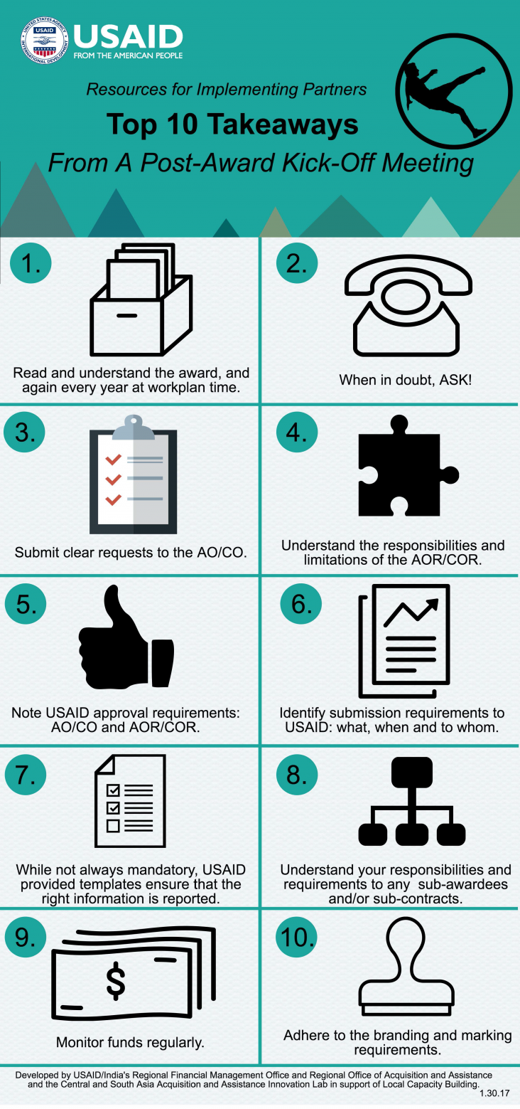 Infographic: Top 10 Takeaways From a Post-Award Kick-Off Meeting - Page 1
