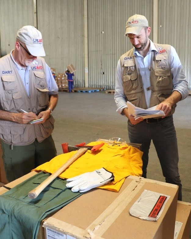 USAID provided fire protective gear to those on the frontlines battling the fires.