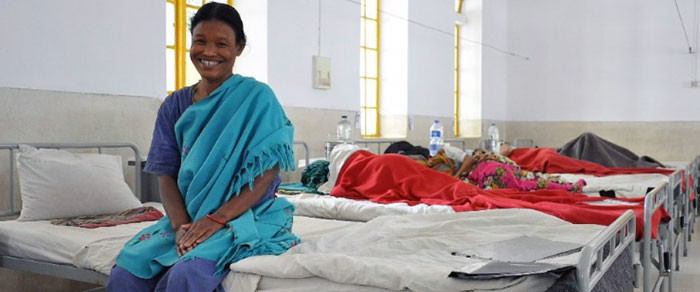 Juliana received surgery for her fistula