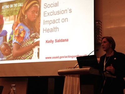 Kelly Saldana talked about social inclusion's impact on health.