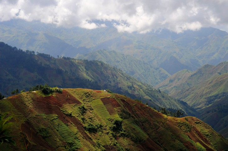 Landscape around Kenscoff, outside of Port-au-Prince, Haiti.
