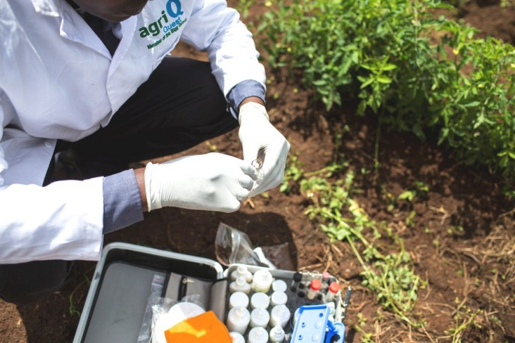 The mobile soil testing kit has the potential to increase productivity by at least 25 percent.